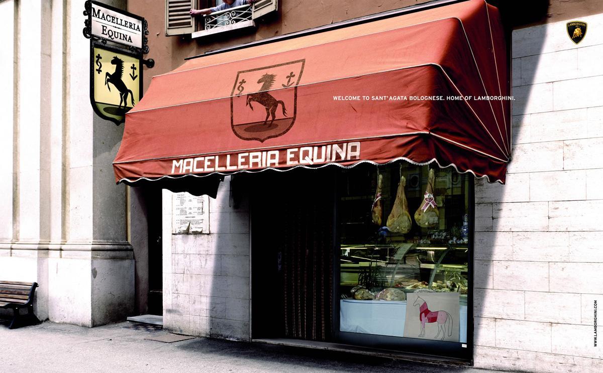 Lamborghini Print Ad -  Horse butchery