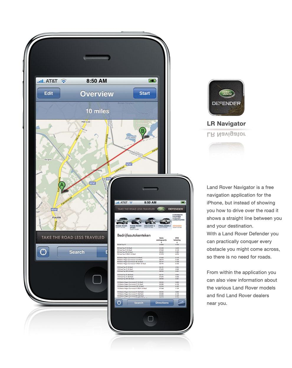 Land Rover Digital Ad -  iPhone application