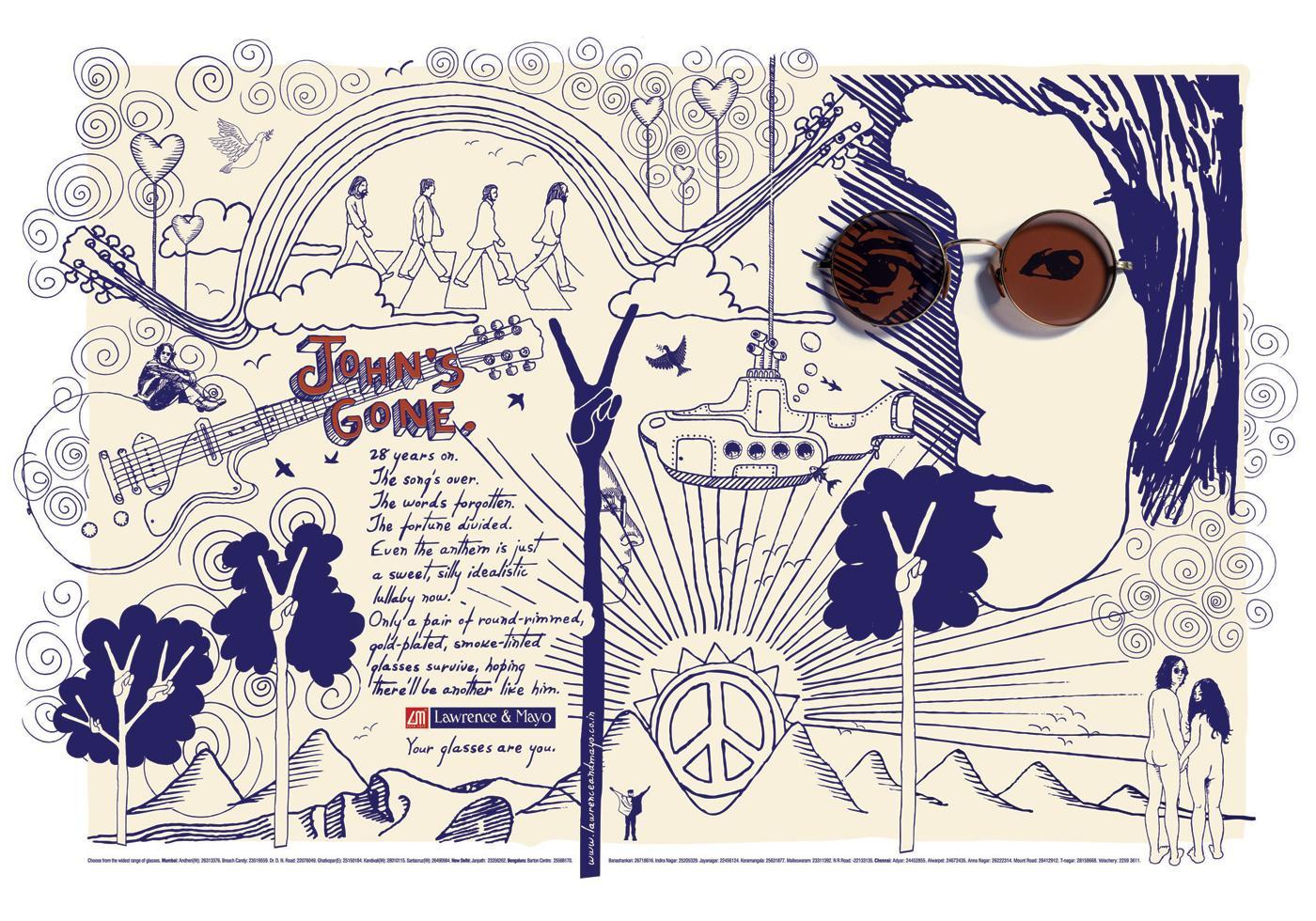 Lawrence & Mayo Print Ad -  Lennon