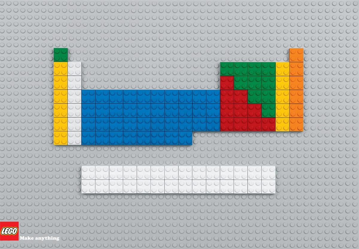 Lego Print Ad -  Periodic table
