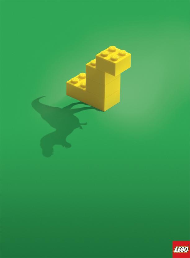 Lego Print Ad -  Dino