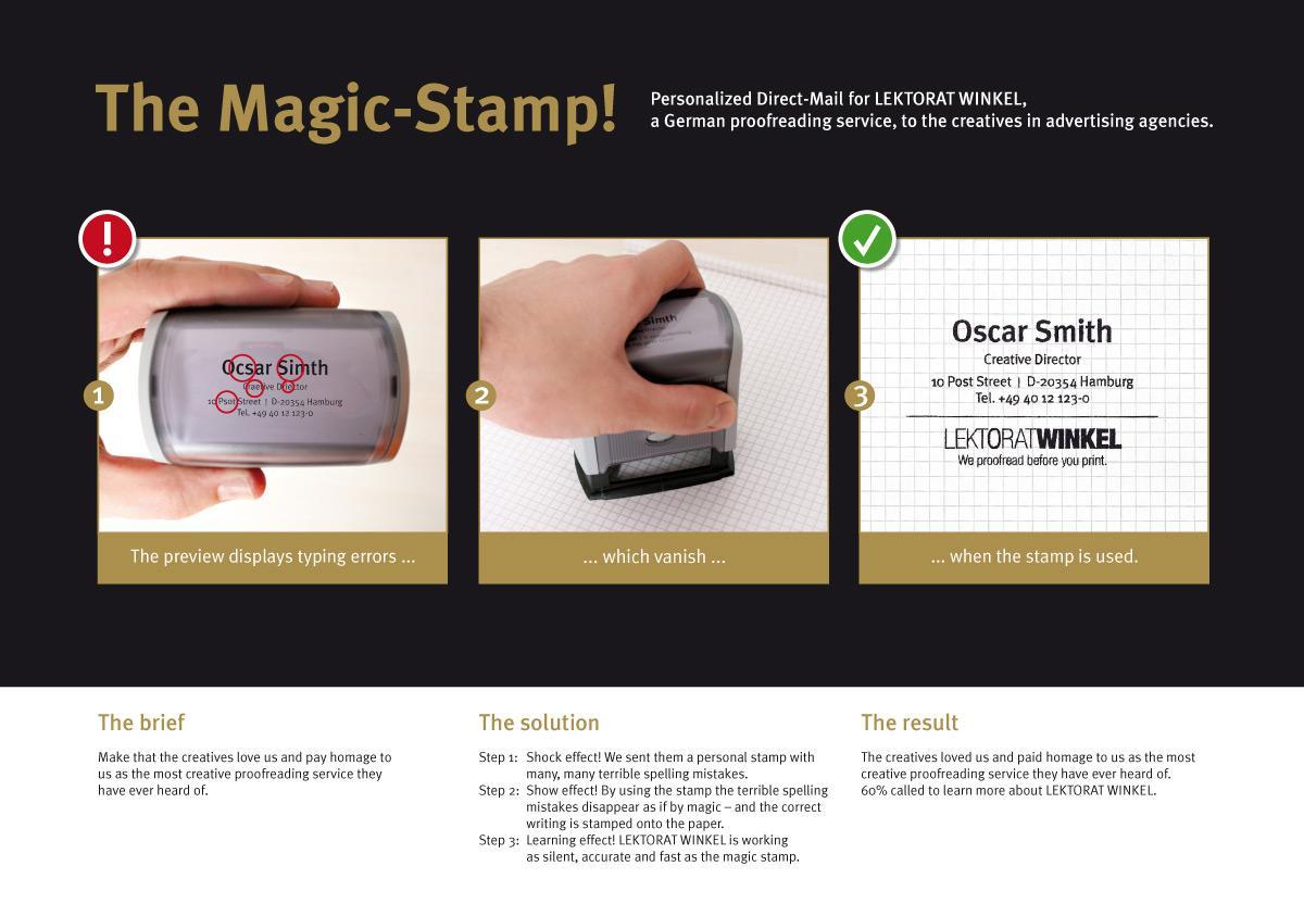 Lektorat Winkel Direct Ad -  Magic-Stamp