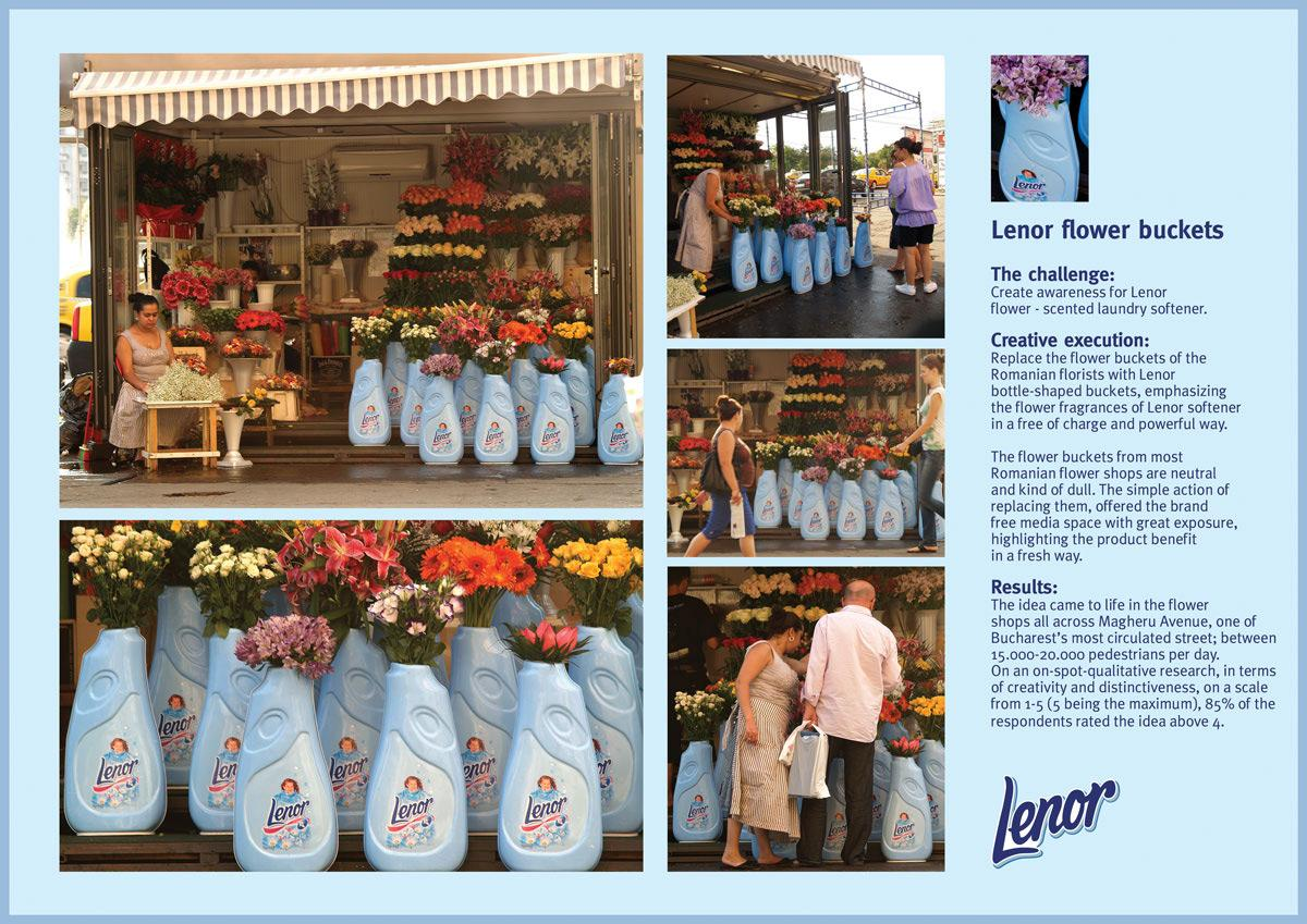 Lenor Ambient Ad -  Flower buckets