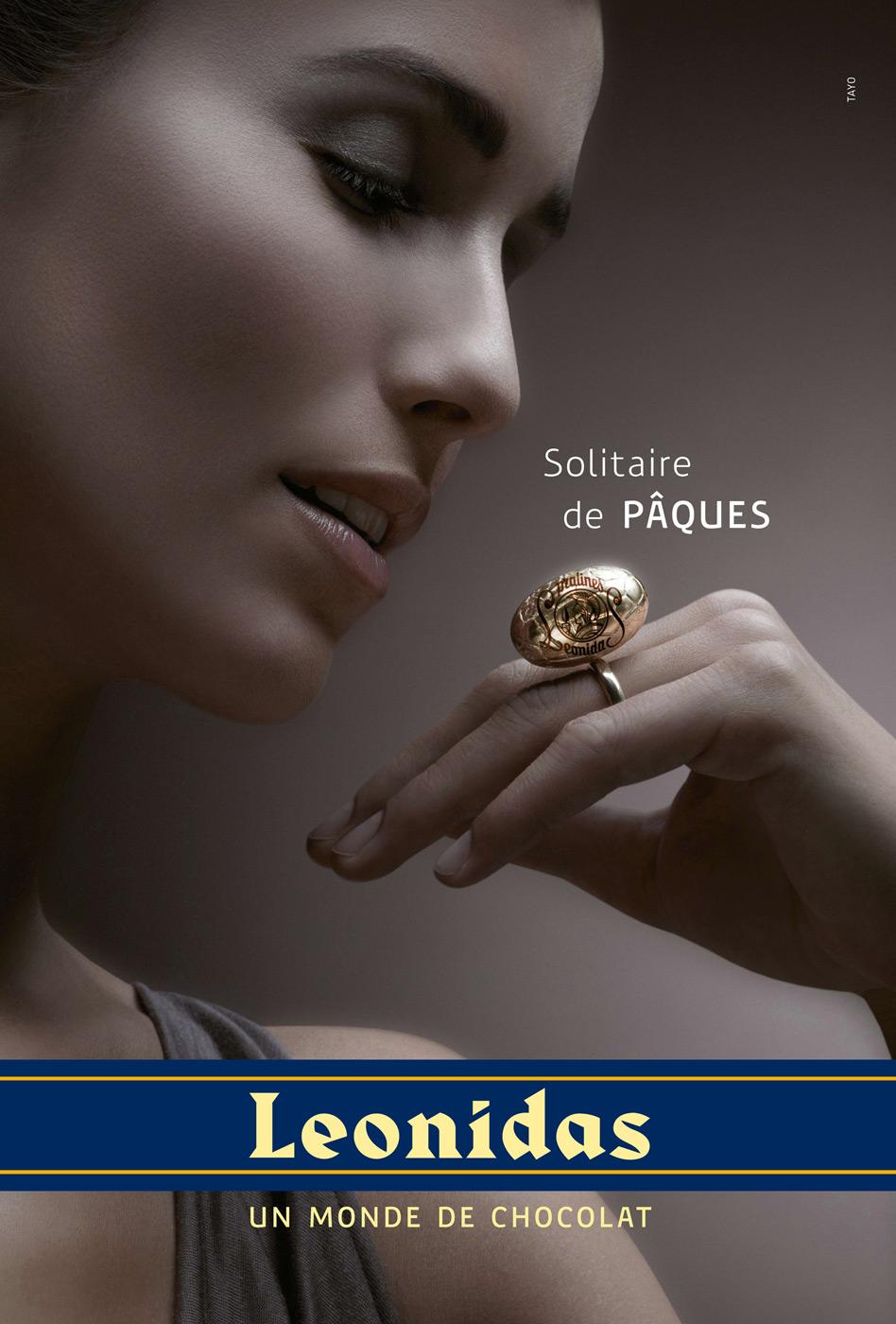 Leonidas Print Ad -  Easter jewelry, Ring