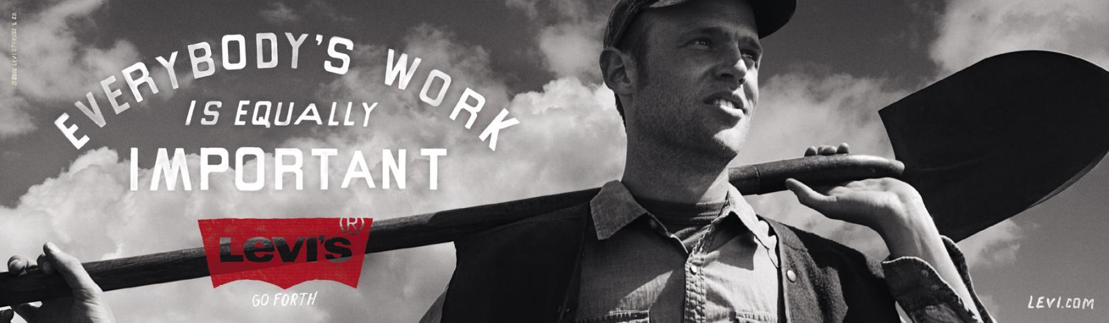 Levi's Outdoor Ad -  Everybody's work is equally important
