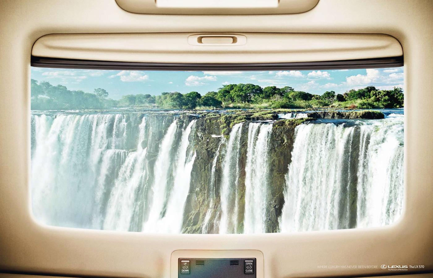 Lexus Print Ad -  Waterfall