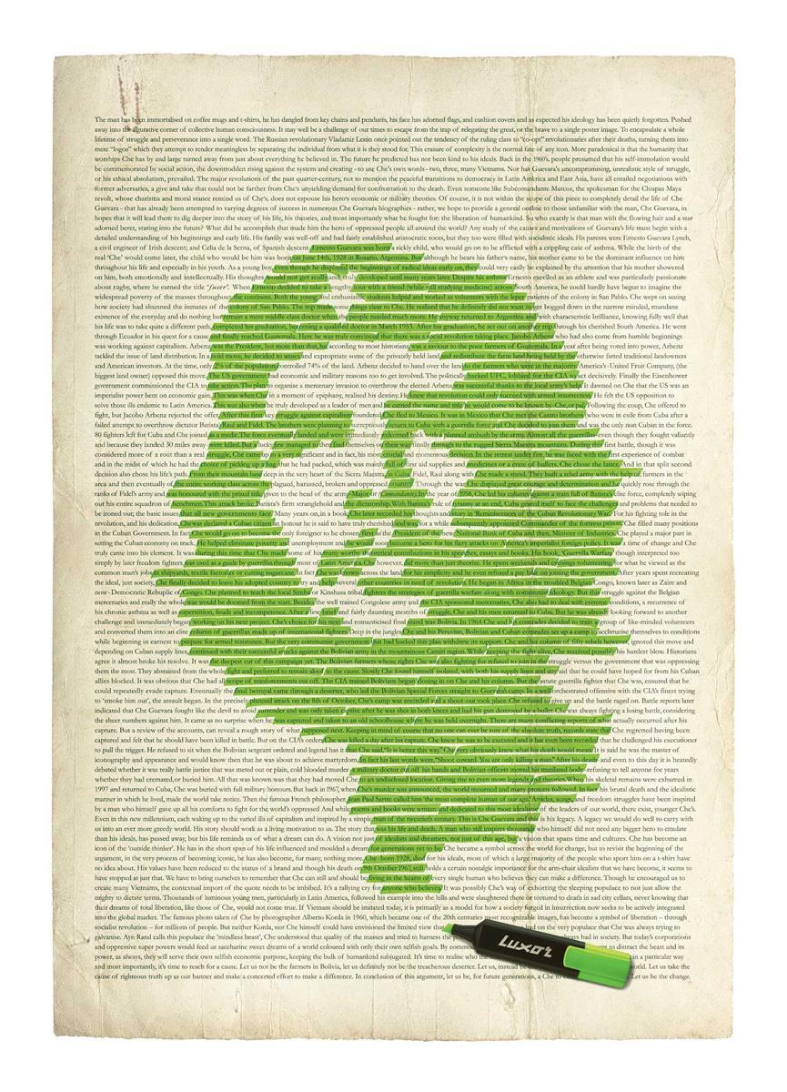 Luxor Print Ad -  Che