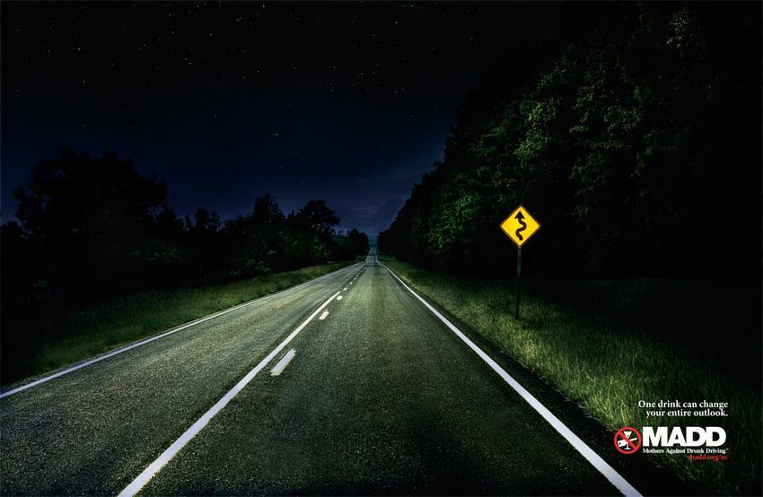 MADD Print Ad -  Road, 1