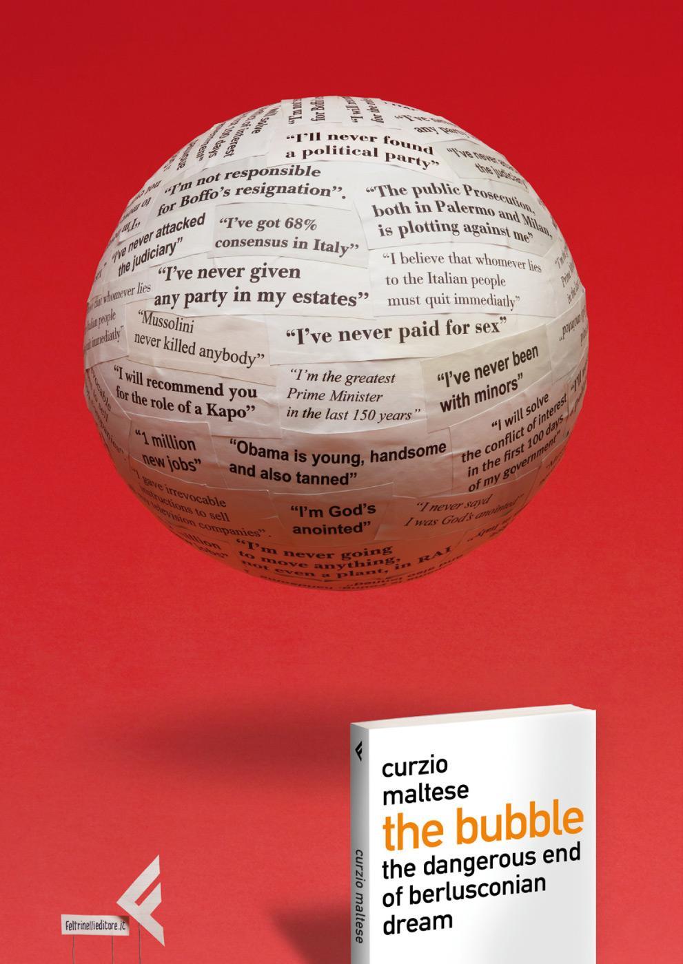 Feltrinelli Print Ad -  Berlusconi's bubble