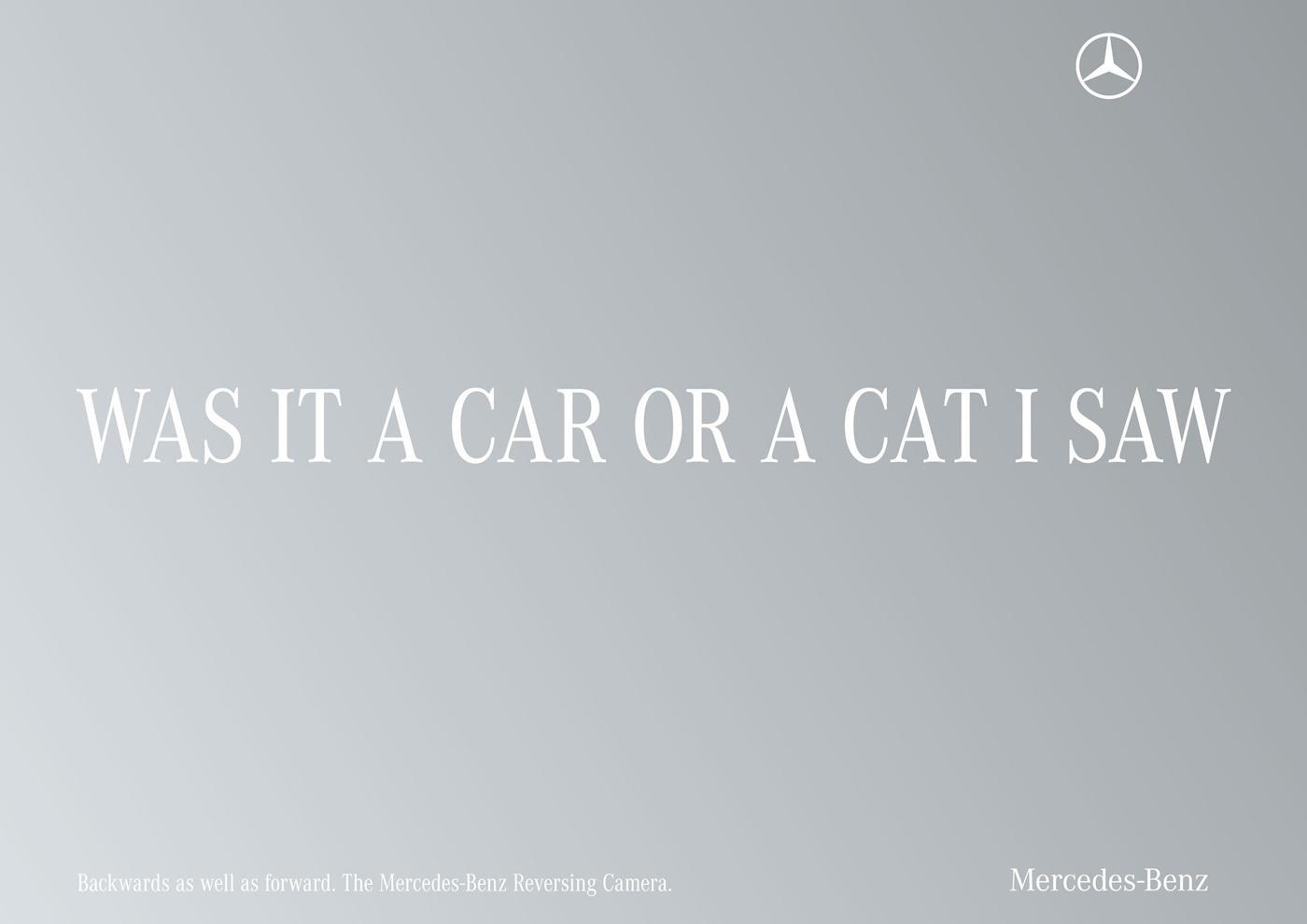 Mercedes Print Ad -  Palindrome, Cat
