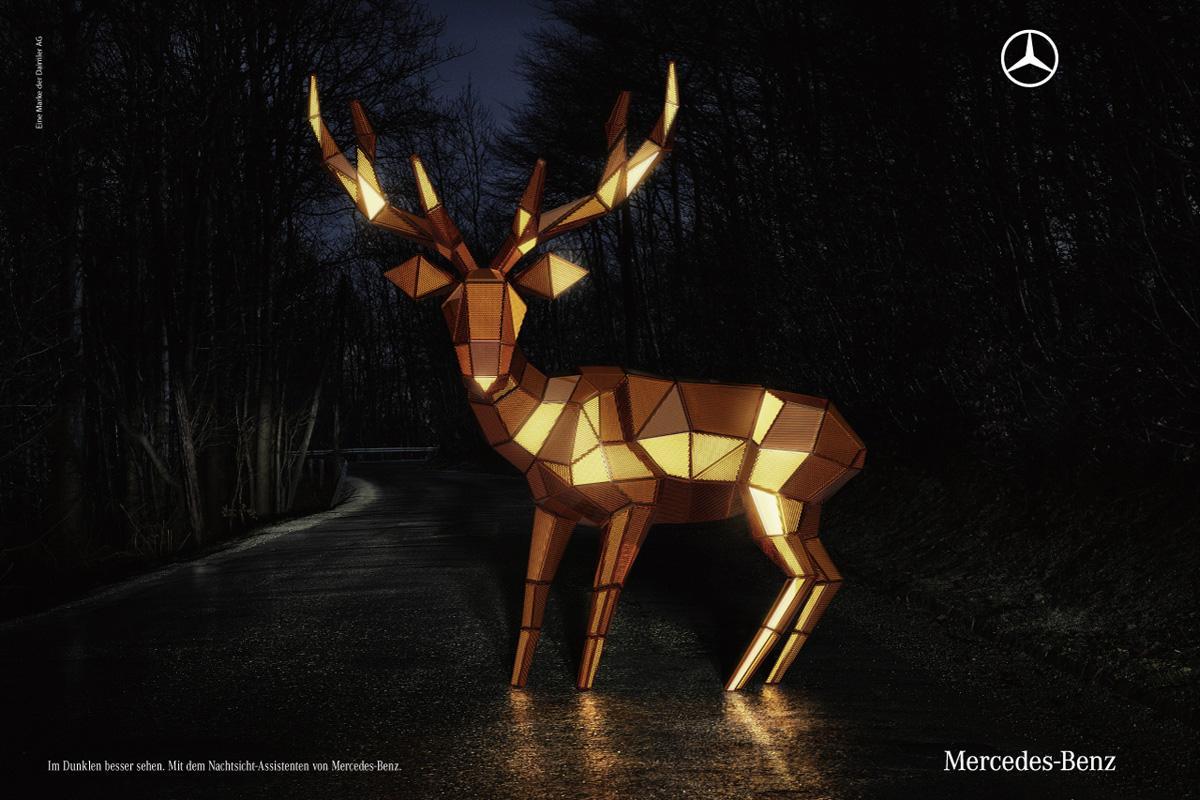 Mercedes Print Ad -  The Deer