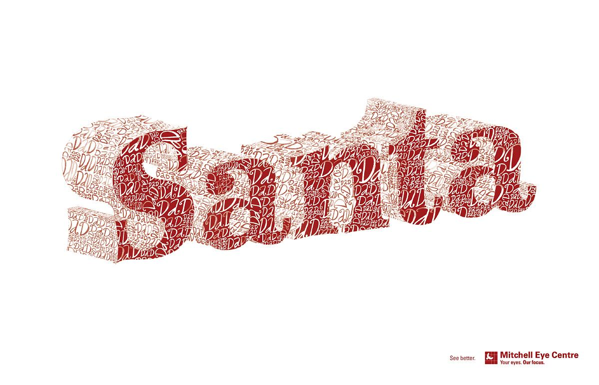 Mitchell Eye Centre Print Ad -  Santa