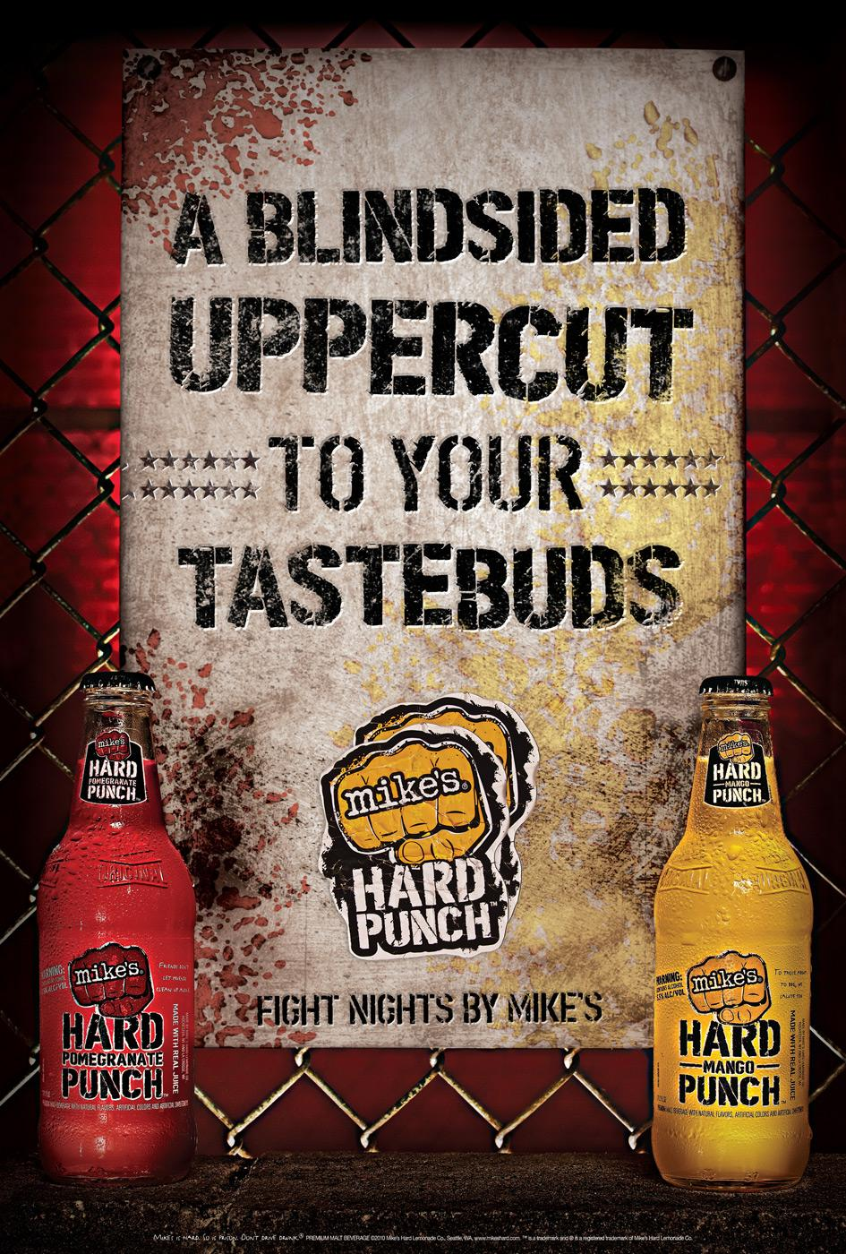 Mike's Hard Punch Print Ad -  Fight Nights by Mike's, 1