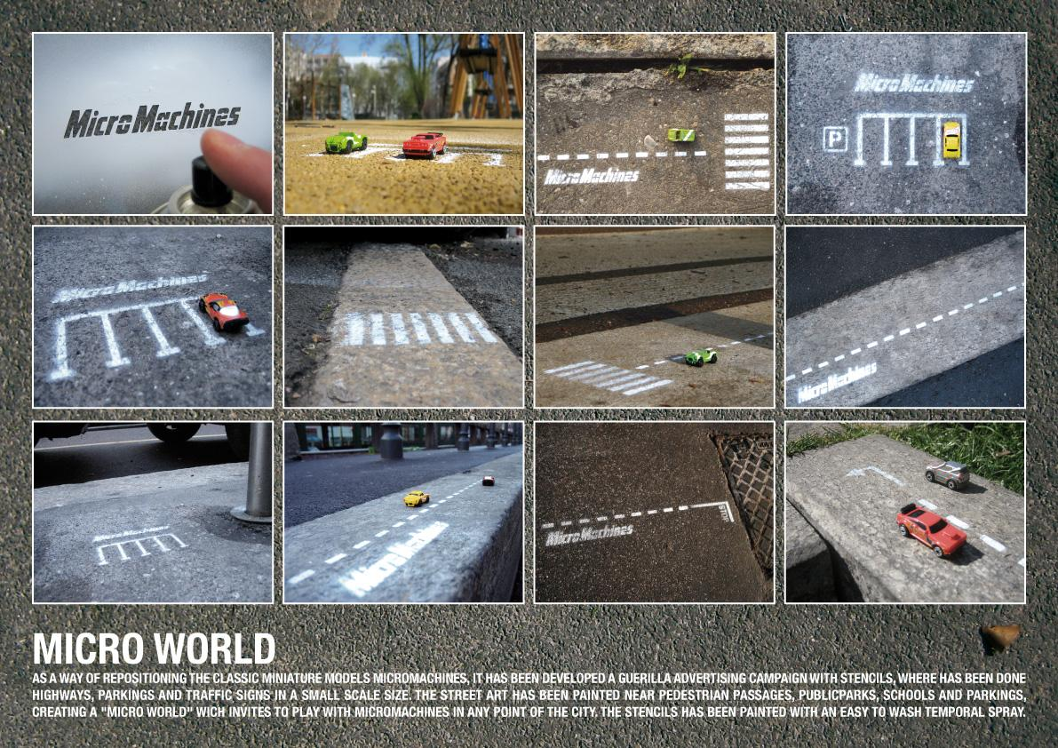 Micro Machines Ambient Ad -  Micro world