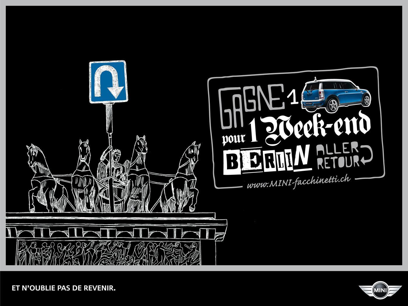 Mini Print Ad -  Weekend trips, Berlin