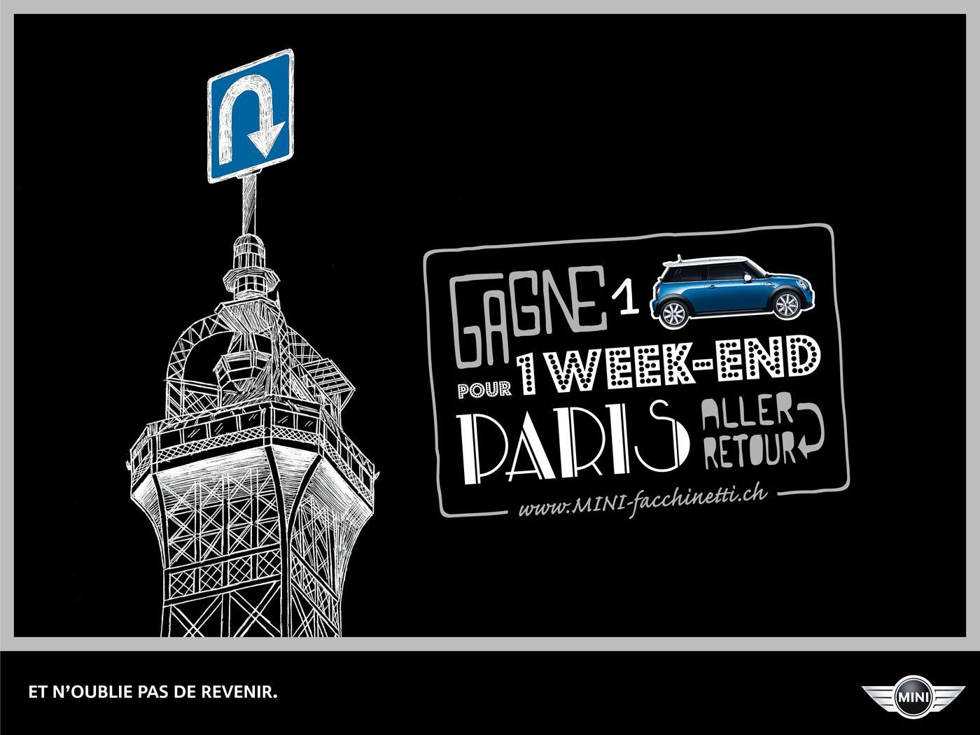 Mini Print Ad -  Weekend trips, Paris