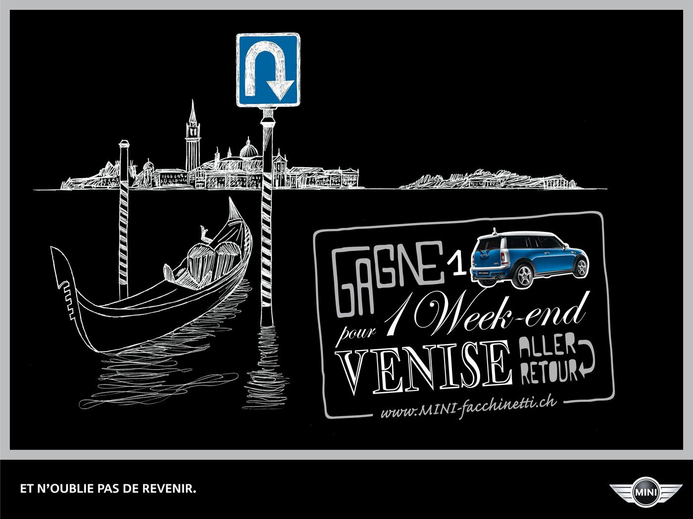 Mini Print Ad -  Weekend trips, Venice