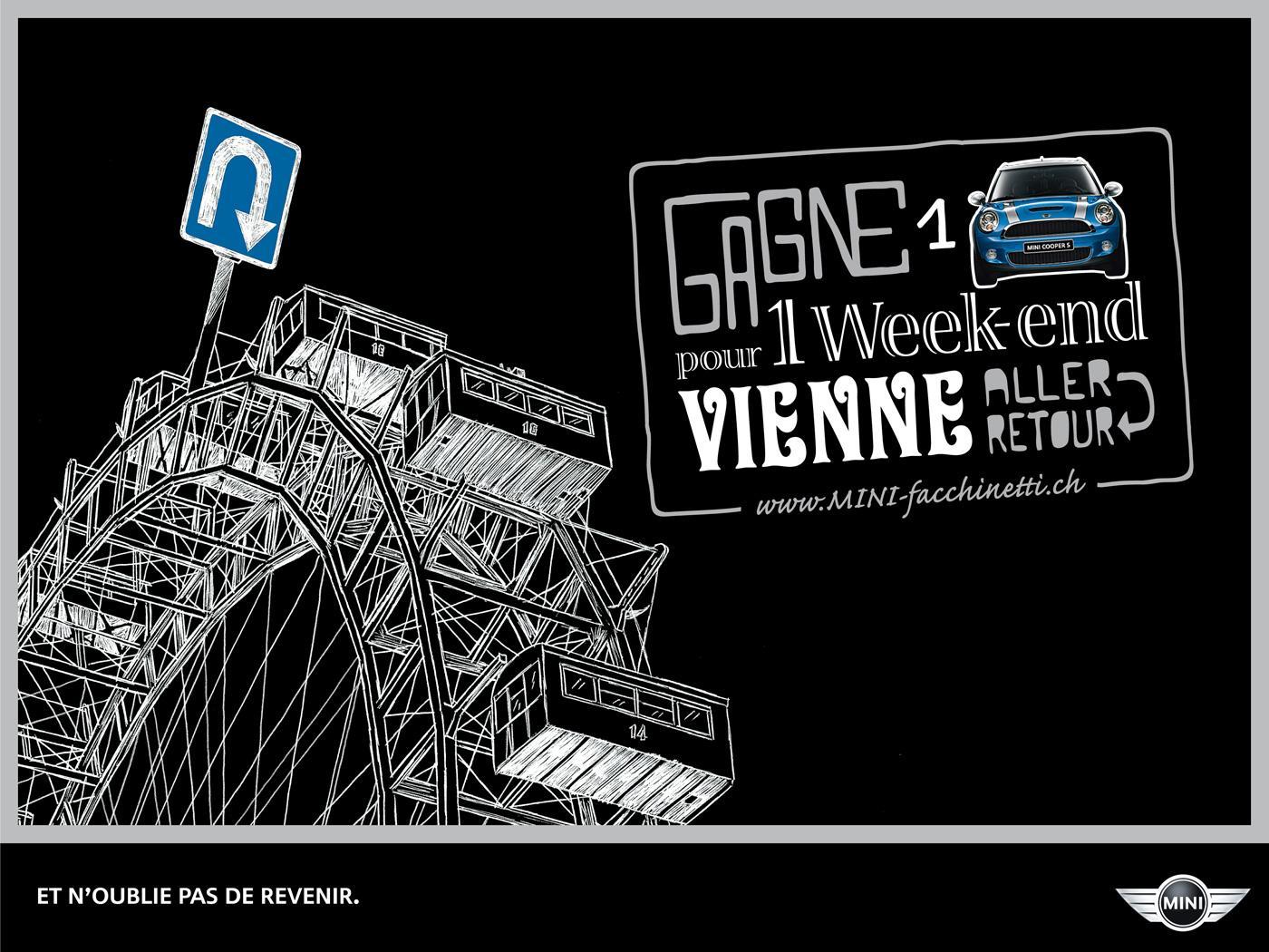 Mini Print Ad -  Weekend trips, Vienna