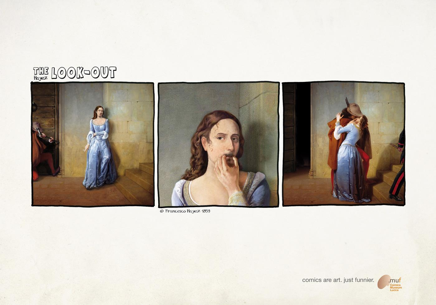 Museo Nazionale del Fumetto Print Ad -  The look out