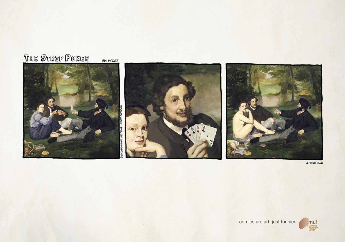 Museo Nazionale del Fumetto Print Ad -  The strip-poker