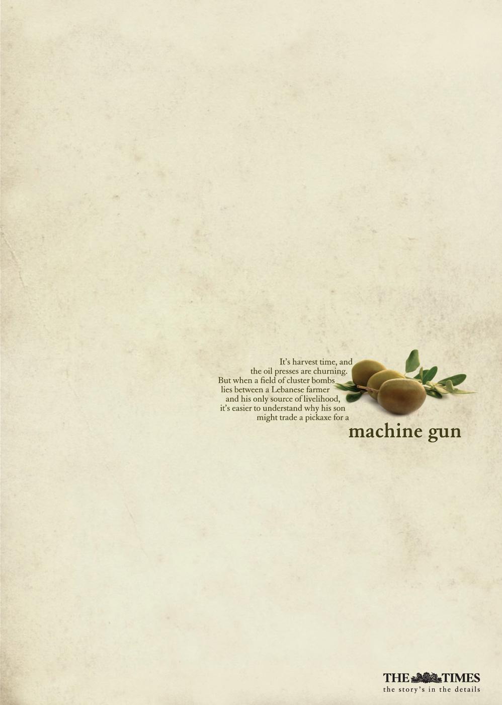 The Times Print Ad -  Machine Gun