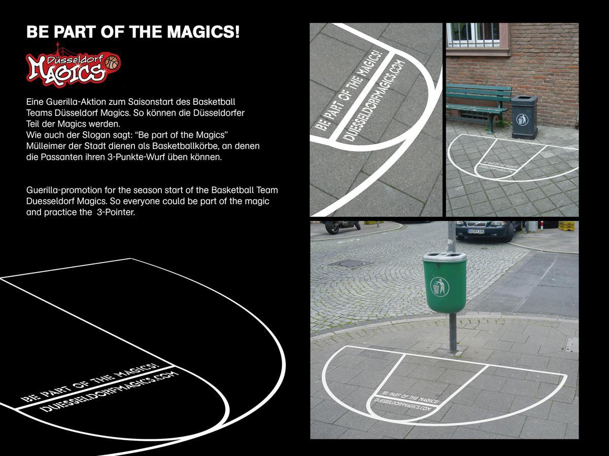 Duesseldorf Magics Ambient Ad -  Trashbasket