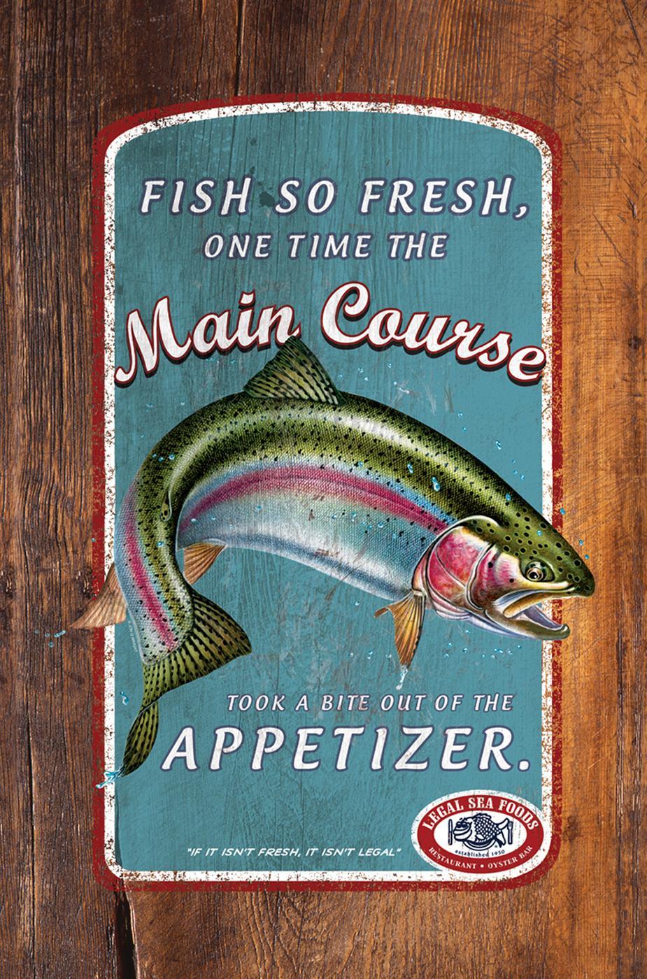 Legal Sea Foods Print Ad -  Main course