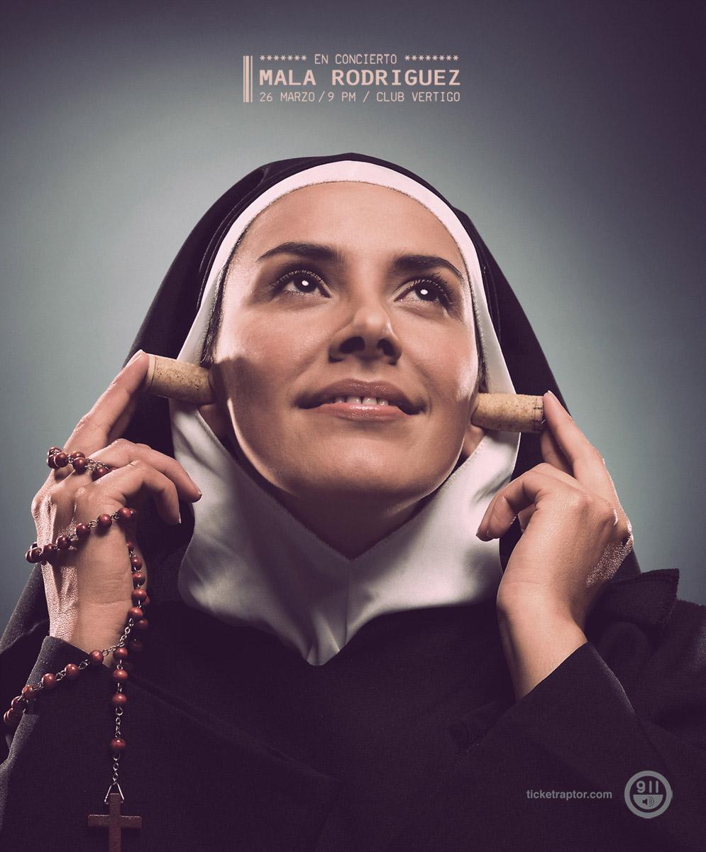 Radio 911 Print Ad -  Nun