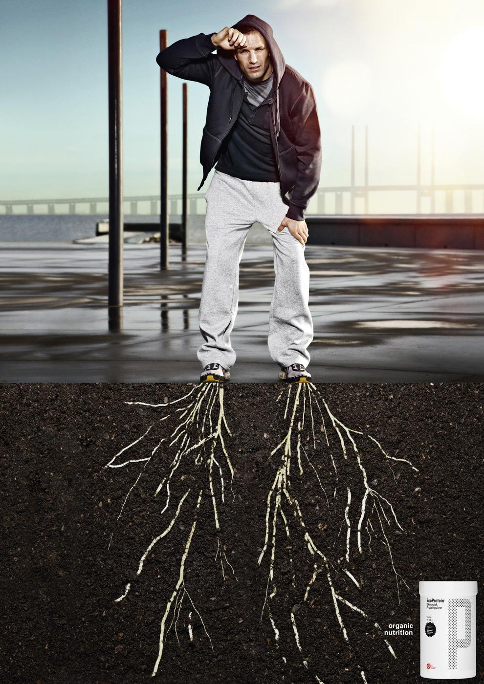 EcoProtein Print Ad -  Male Runner