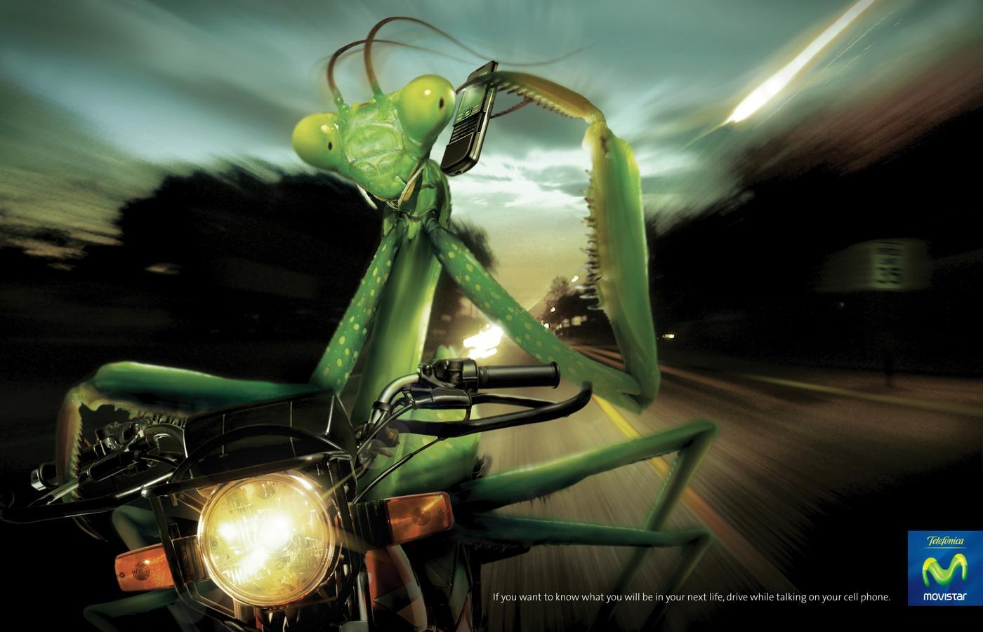 Telefónica Print Ad -  Mantis