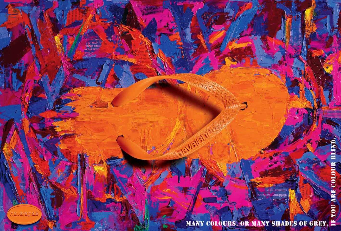 Havaianas Print Ad -  Many colours