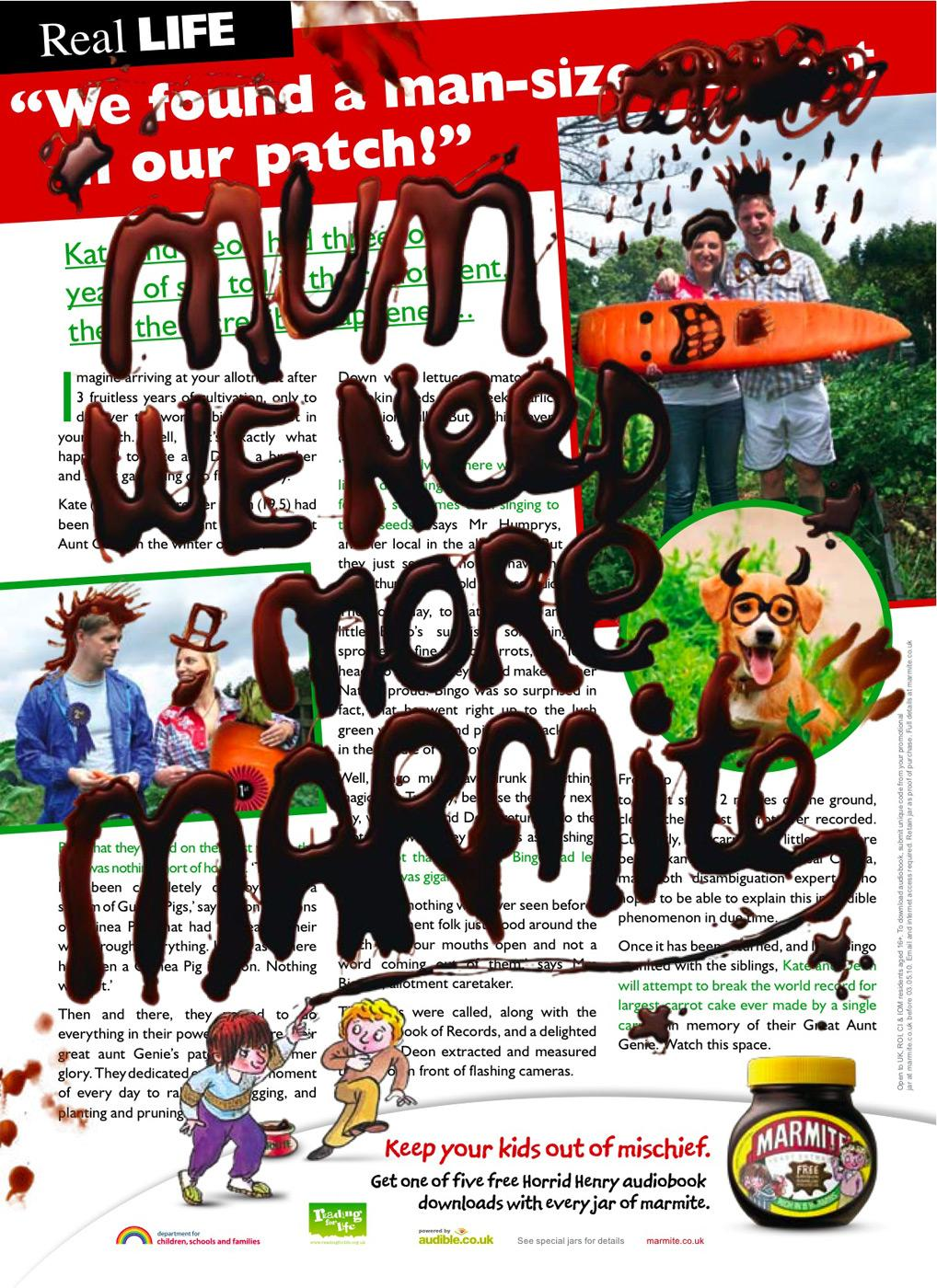 Marmite Print Advert By Iris Horrid Henry And Perfect Peter 1
