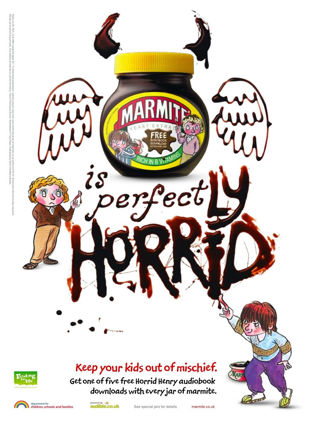 Marmite Print Advert By Iris Horrid Henry And Perfect Peter 2