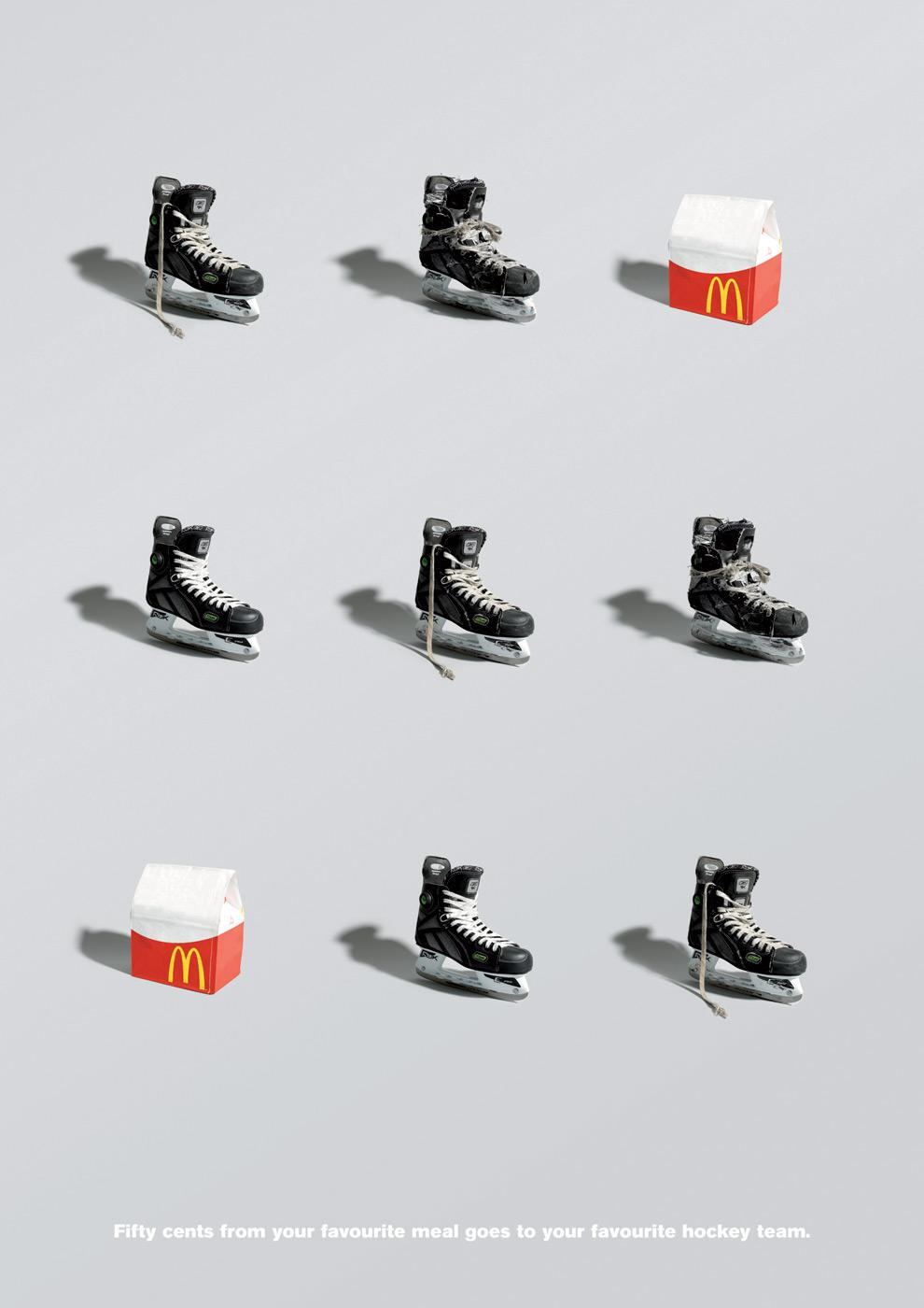 McDonald's Print Ad -  Hockey, 2