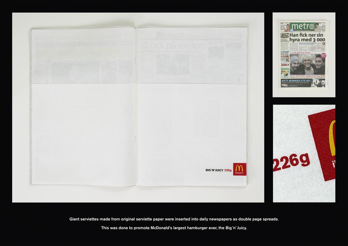 McDonald's Ambient Ad -  Serviette