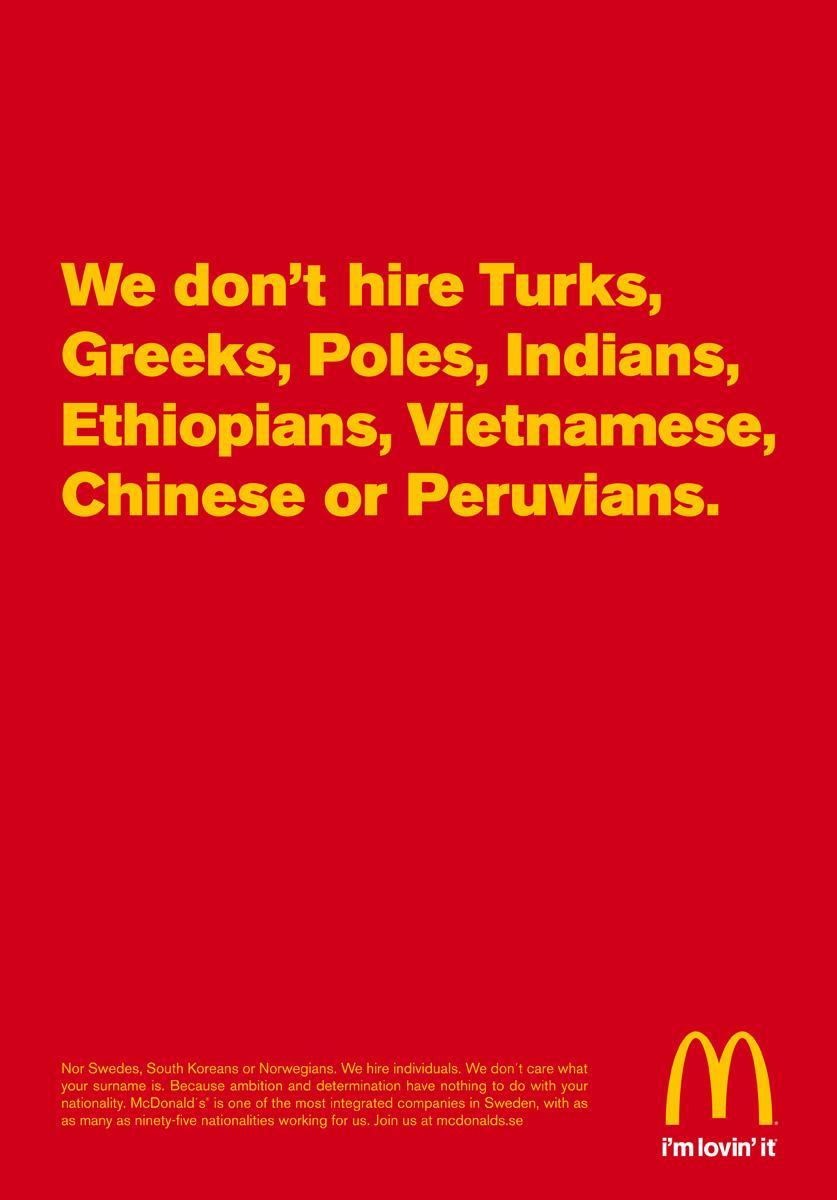 McDonald's Print Ad -  Individuals