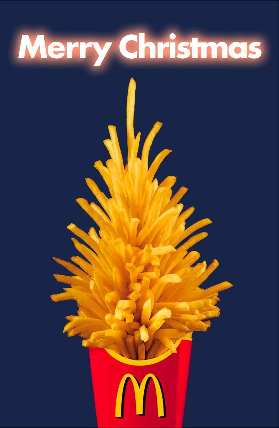 McDonald's Print Ad -  Merry Christmas
