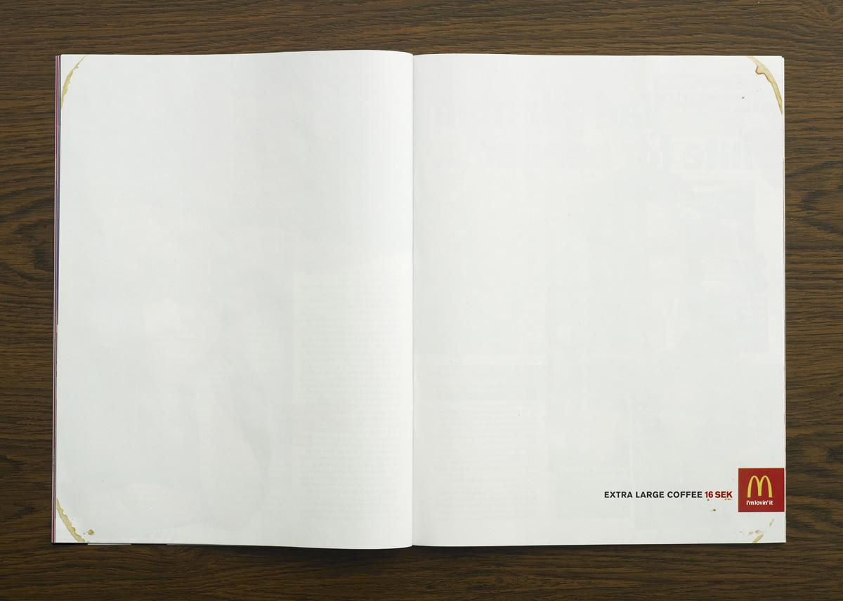 McDonald\'s Print Advert By DDB: Extra large coffee   Ads of the World™