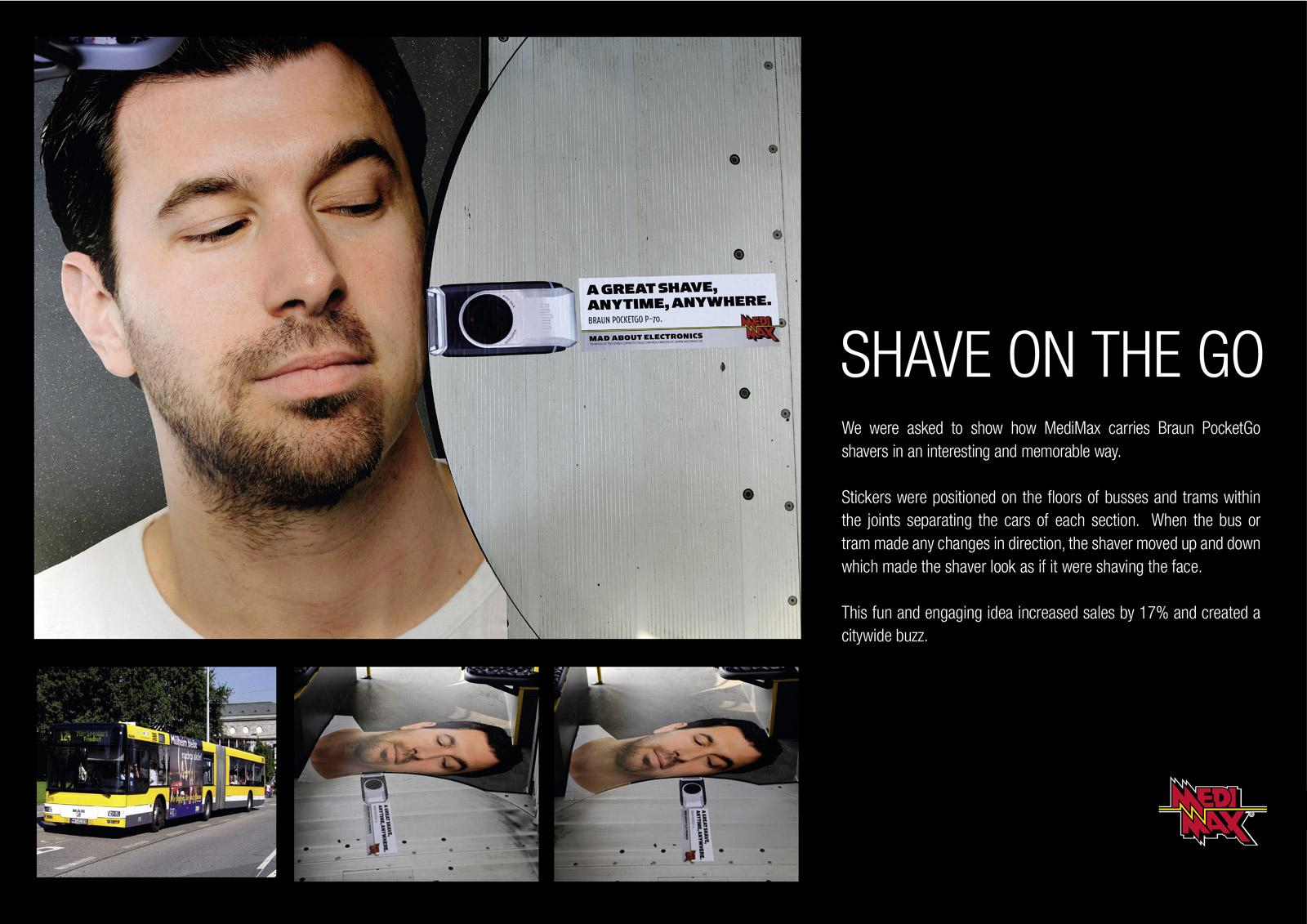 MediMax Outdoor Ad -  Shave on the go