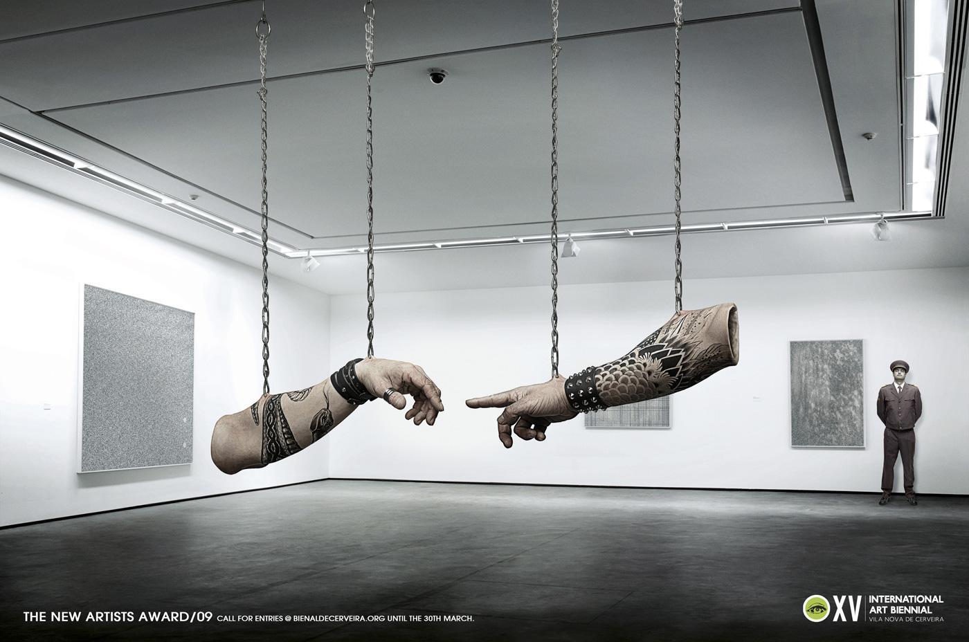 Cerveira Art Biennial Print Ad -  Michelangelo