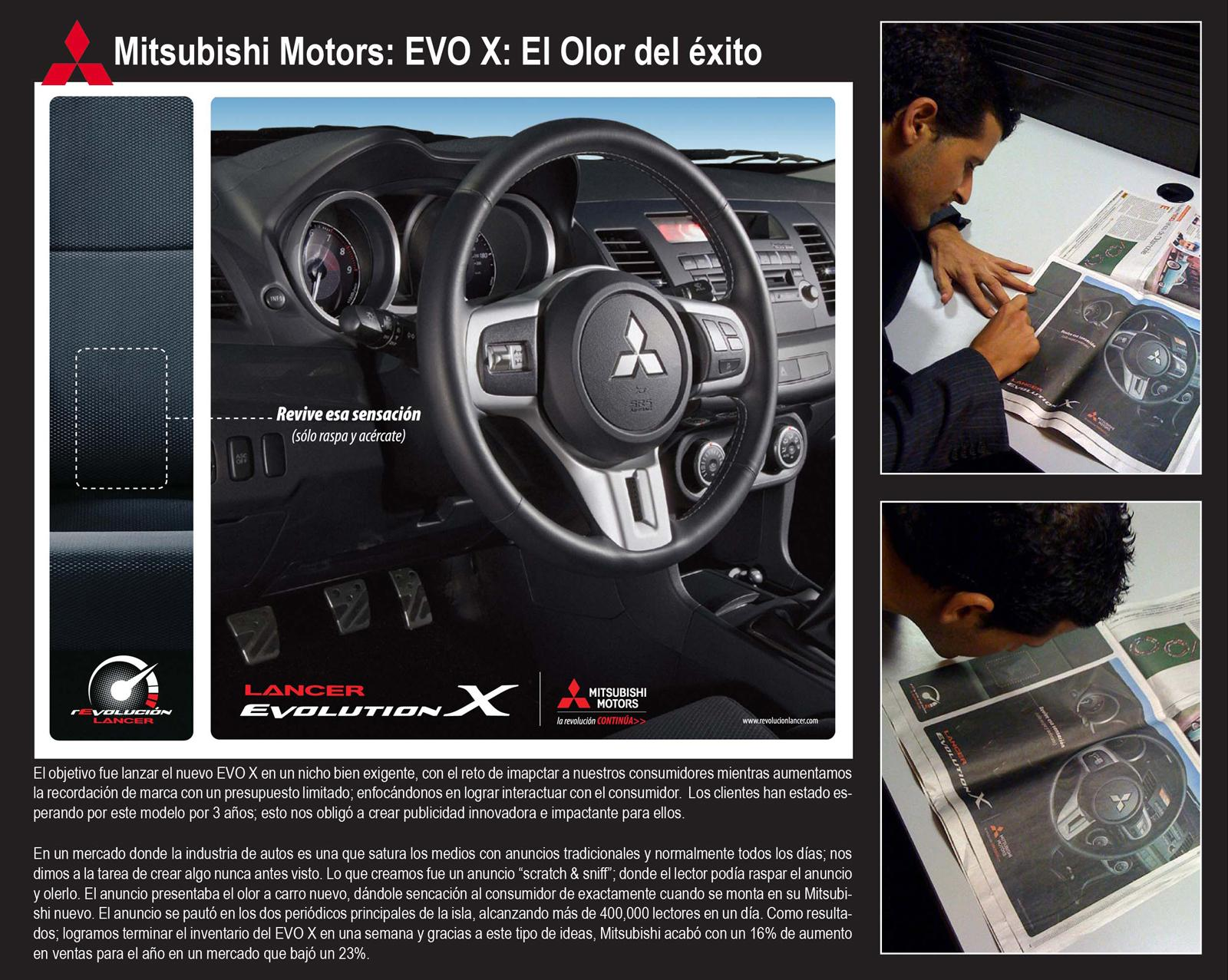 Mitsubishi Ambient Ad -  Scratch n' sniff