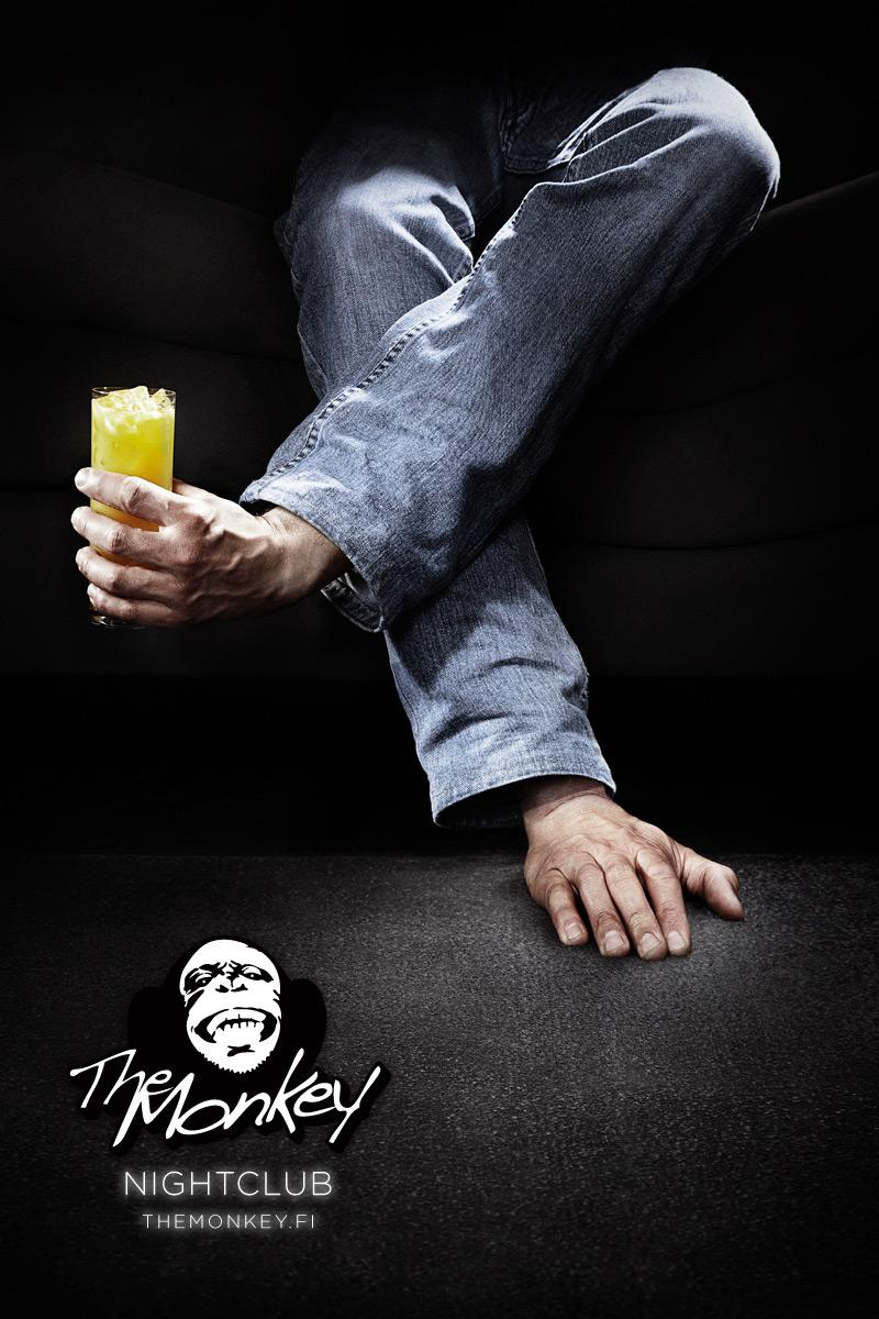 The Monkey Nightclub Print Ad -  Cocktail