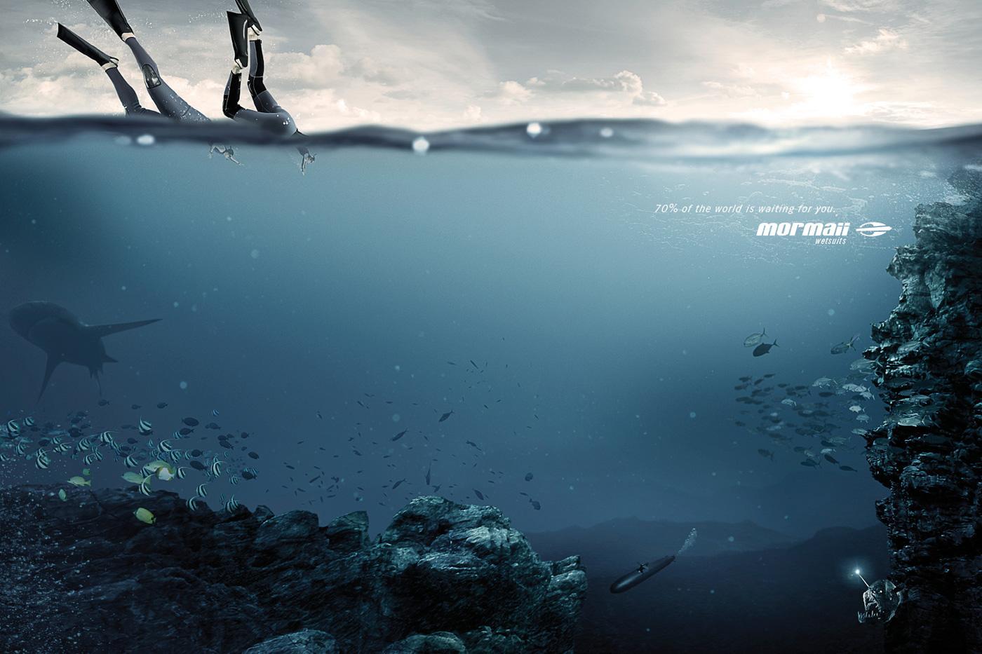Mormaii Print Ad -  Water World, 2