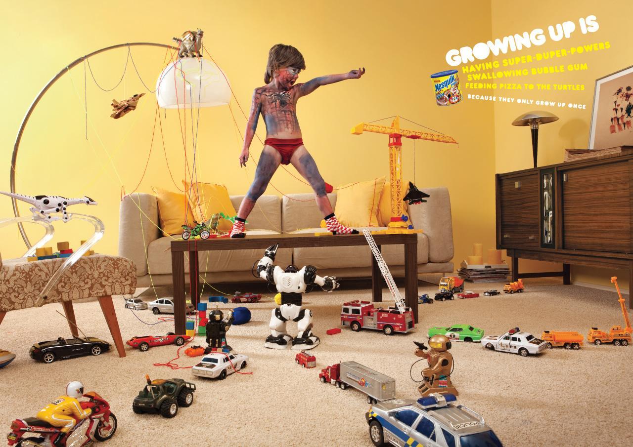 Nesquik Print Ad -  Growing up is..., 1