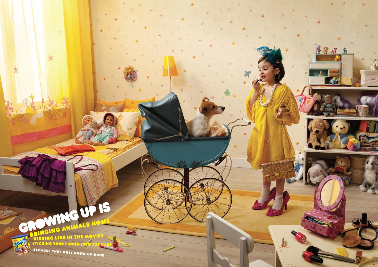 Nesquik Print Ad -  Growing up is..., 2