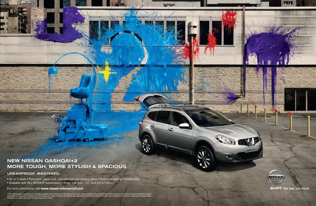 Nissan Print Ad -  Artistic Paintball, 2
