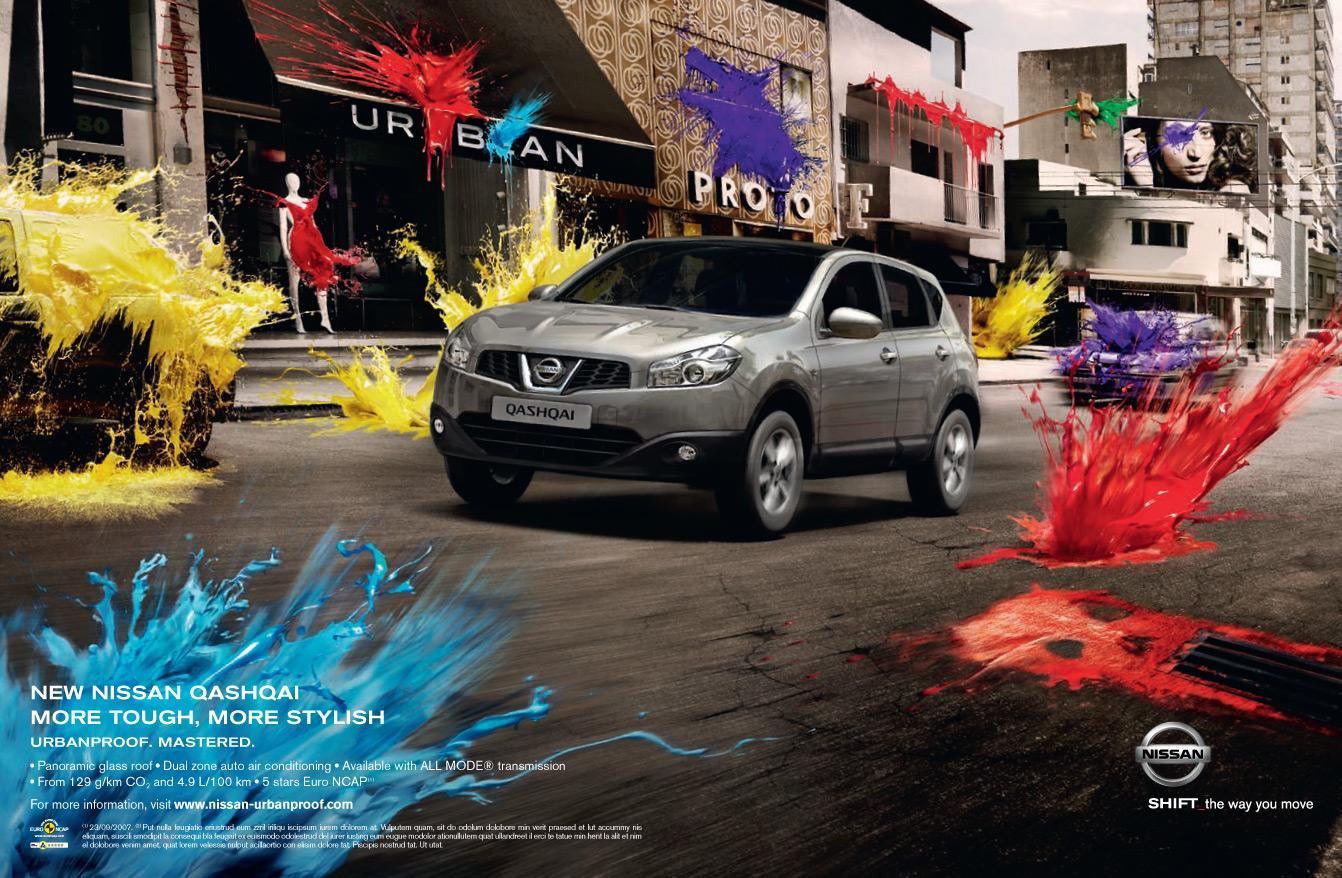 Nissan Print Ad -  Artistic Paintball, 1
