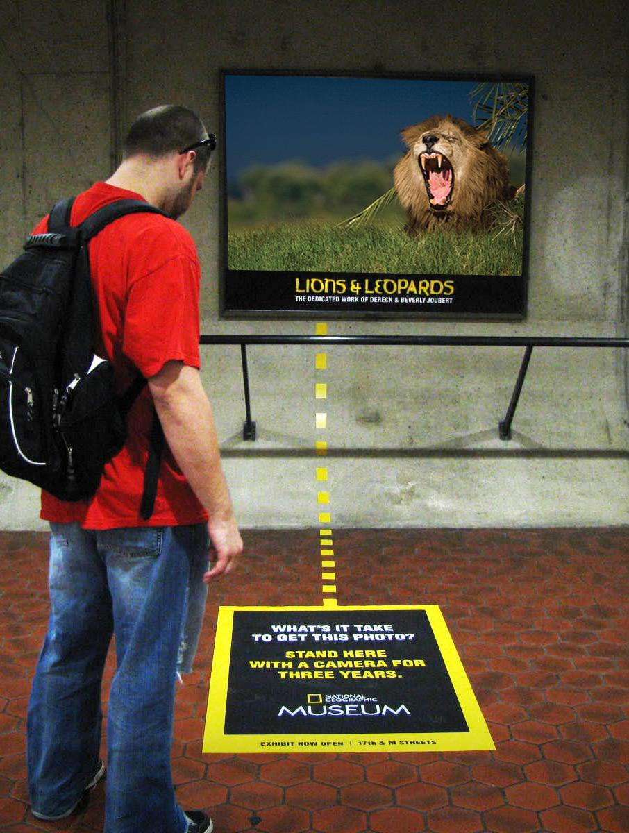 National Geographic Ambient Ad -  Lion