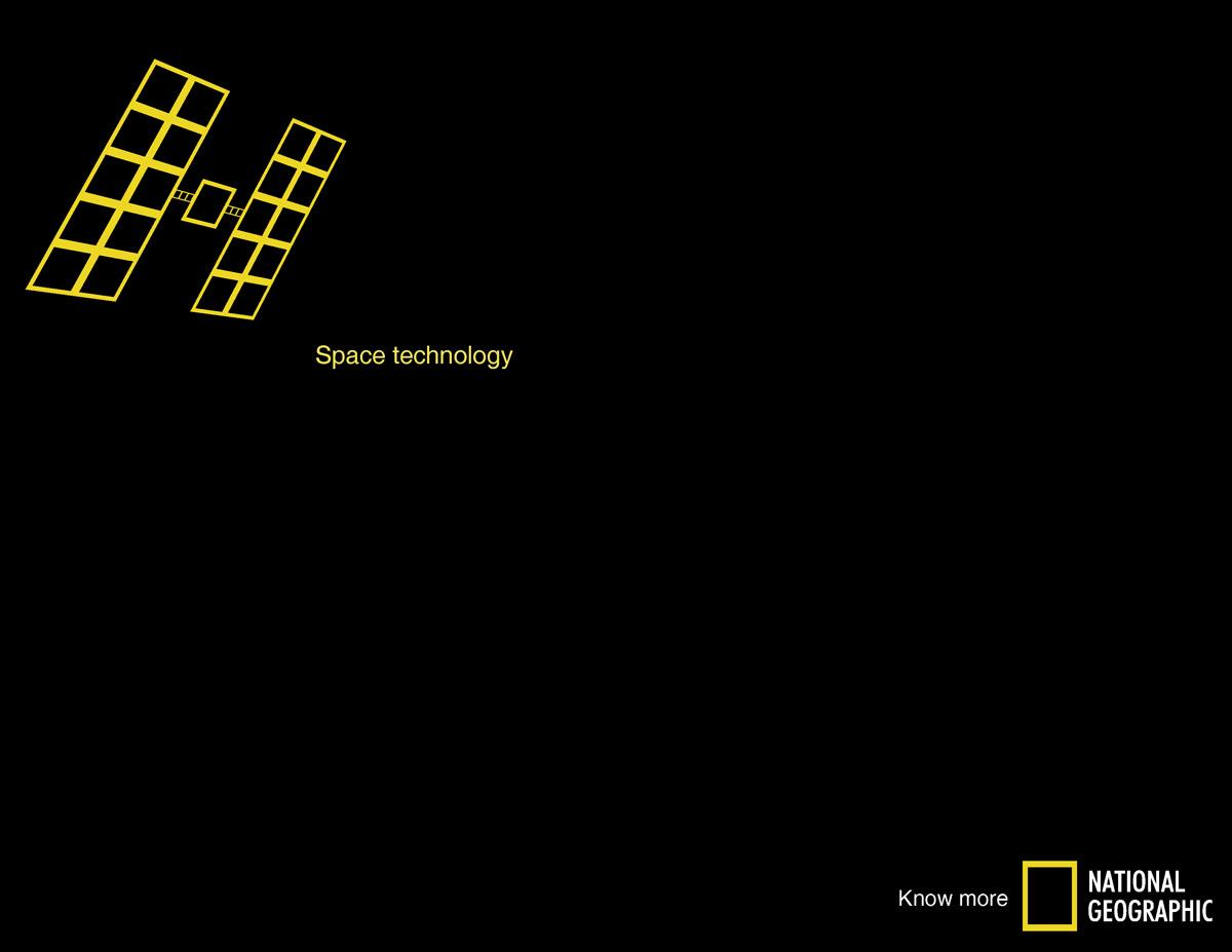 National Geographic Print Ad -  Space technology