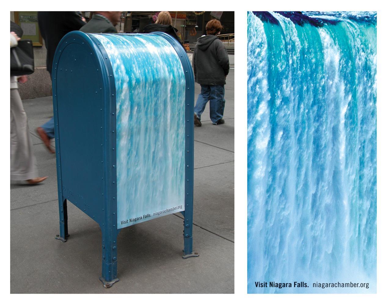 Post-box waterfall